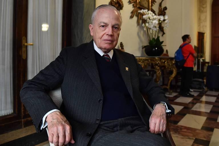 Bertrand de Orleans e Bragança, herdeiro da família real brasileira e autor de 'Psicose Ambientalista', durante evento em Roma (Itália) crítico ao Sínodo da Amazônia