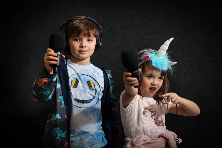"""Bruno (8 anos) a Luiza (5 anos) fazem o """"E Se...Podcast"""""""