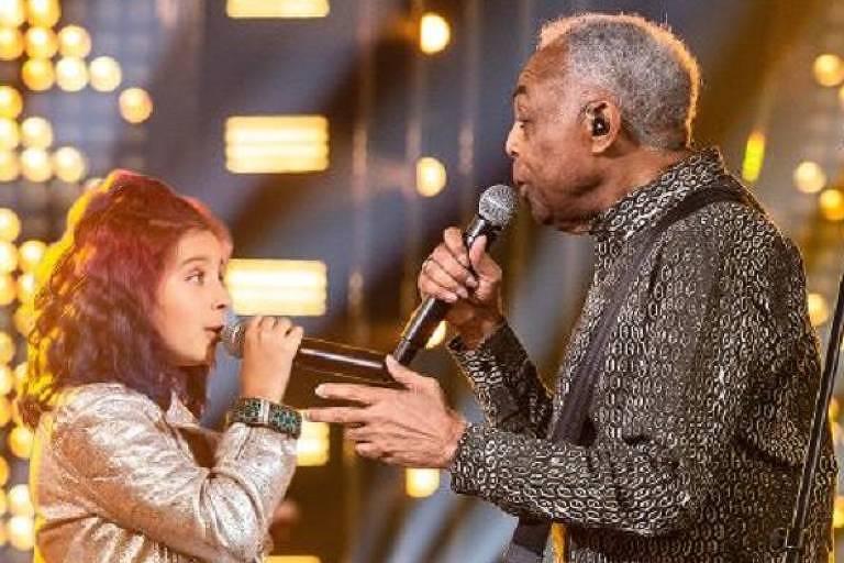 Gilberto Gil canta com a neta no Só Toca Top de Dia das Crianças