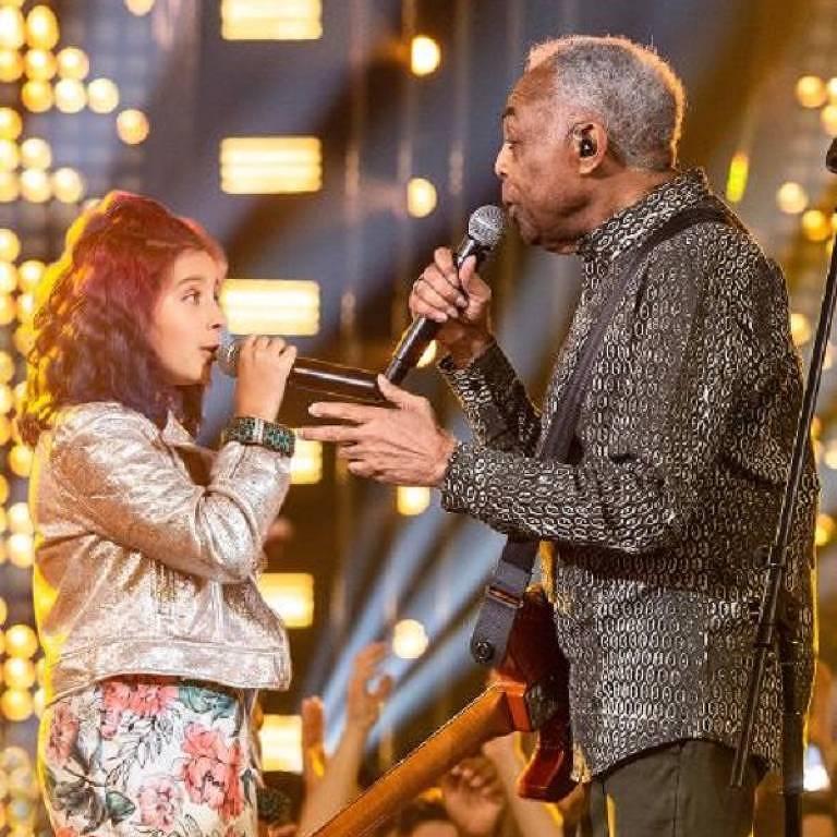 Gilberto Gil canta com sua neta Flor Gil no Só Toca Top