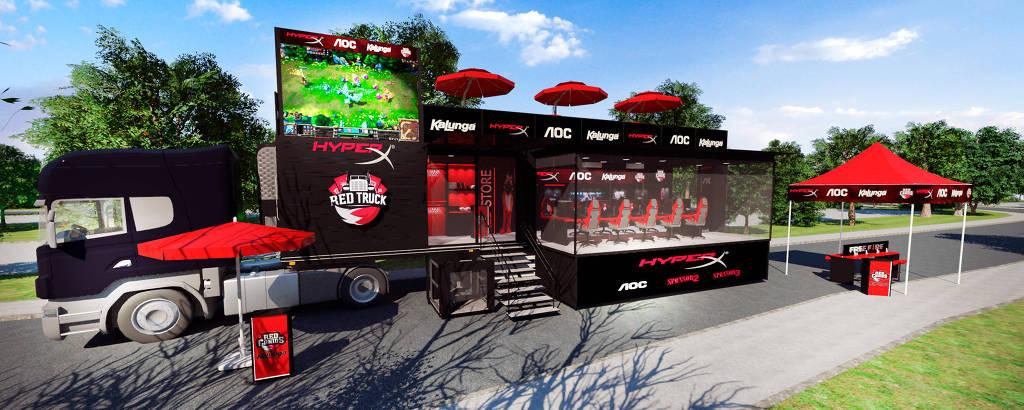 RED Truck HyperX, a primeira arena móvel de esportes eletrônicos do país