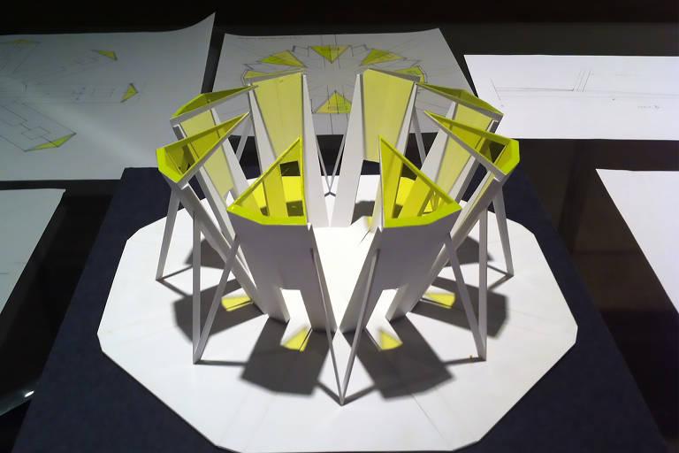 Projeto da instalação de Robert Irwin que será inaugurada no Instituto Inhotim, em Brumadinho (MG), em novembro deste ano