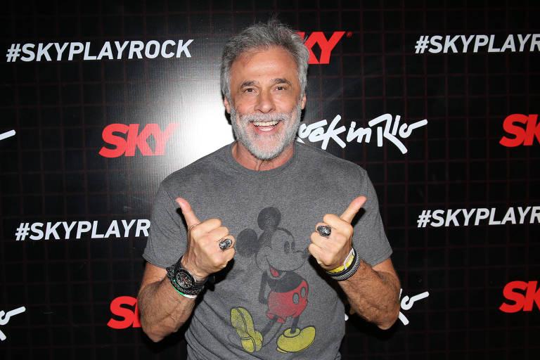 Oscar Magrini no primeiro dia do festival na segunda semana do Rock in Rio