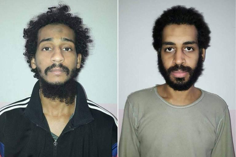 El Shafee Elsheikh e Alexanda Kotey, os dois combatentes do Estado Islâmico que agora estão sob custódia dos EUA