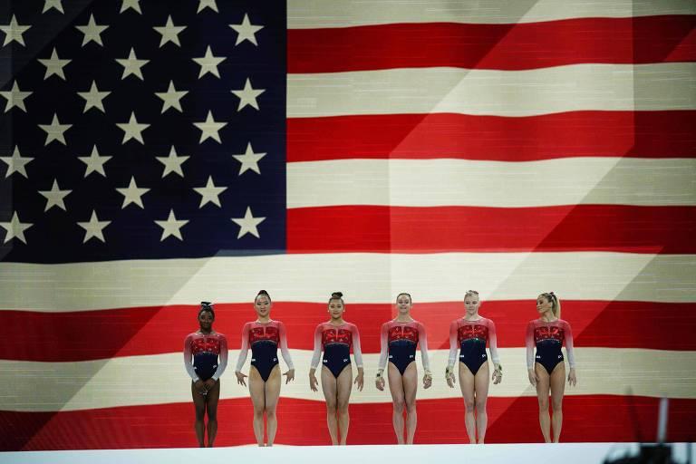 Equipe americana campeã no Mundial de ginástica artística de 2019 e favorita em Tóquio-2020