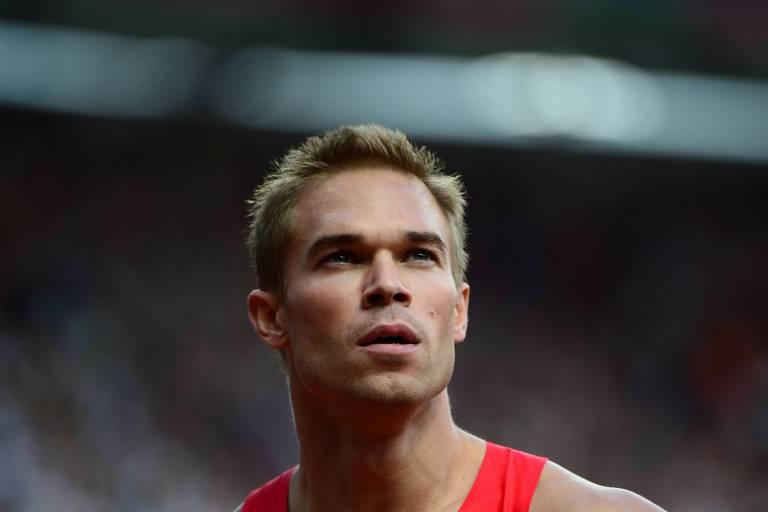Nick Symmonds depois de prova na Olimpíada de Londres-2012