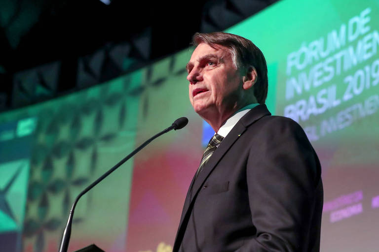 O presidente Jair Bolsonaro (PSL), que criticou inquérito da PF contra o ministro Marcelo Álvaro Antônio (Turismo)