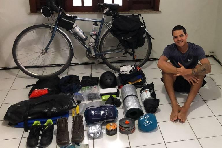 Cicloviajante Guilherme Valadão viaja de bicicleta pela América Latina