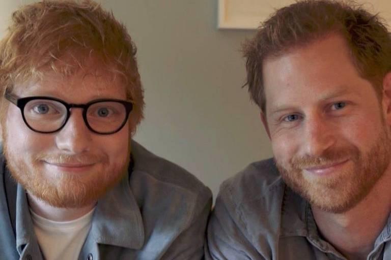 Ed Sheeran e o príncipe Harry se juntam para promover saúde mental