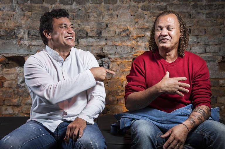 O ex-boxeador Popó e o seu irmão Luis Claudio Freitas