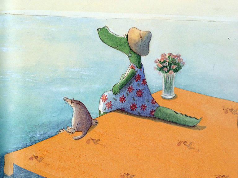 Ilustração de Geneviève Casterman para 'Esperando Timoun'