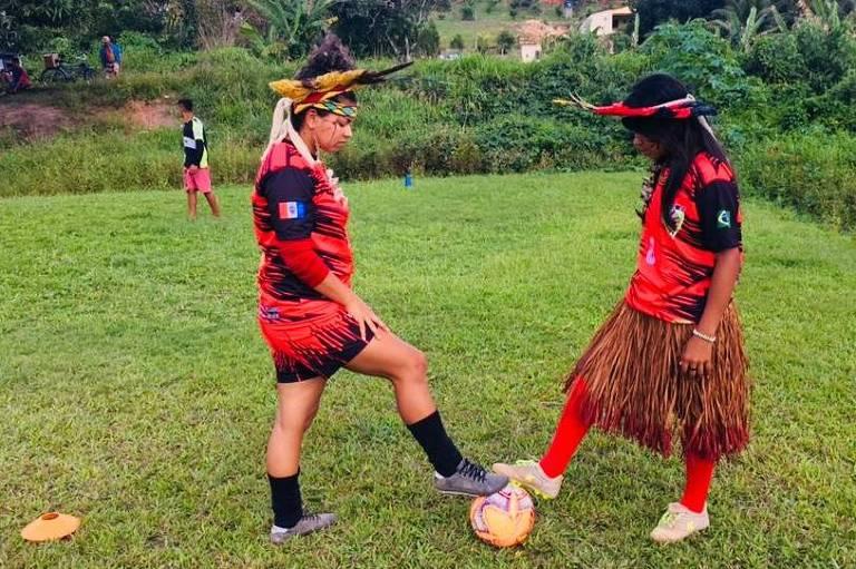 Jogadoras da tribo indígena Wassu-Cocal