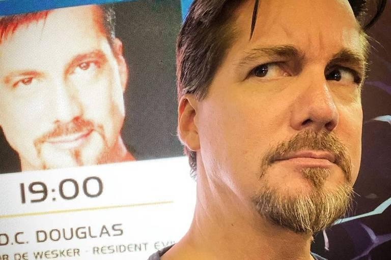 DC Douglas, que faz a voz de Wesker de 'Resident Evil', na BGS 2019