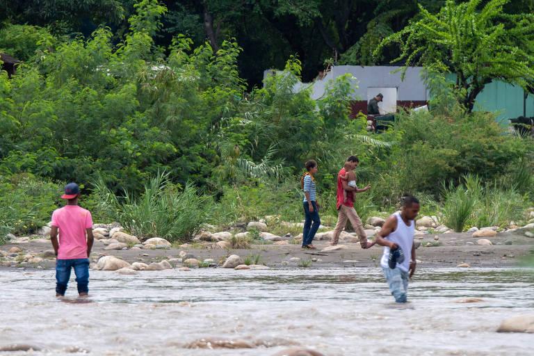 Travessia entre Venezuela e Colômbia