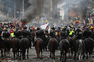 Aftermath of protests against Ecuador's President Moreno's austerity measures in Quito