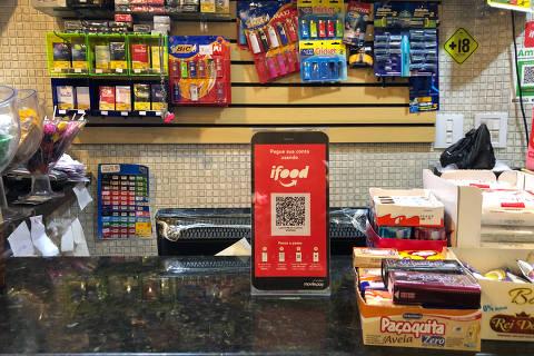 QR code para pagamentos substitui cartão e maquininha.Foto: Thea Severino/folhapress