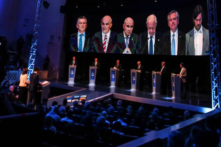 debate argentino em palco televisivo