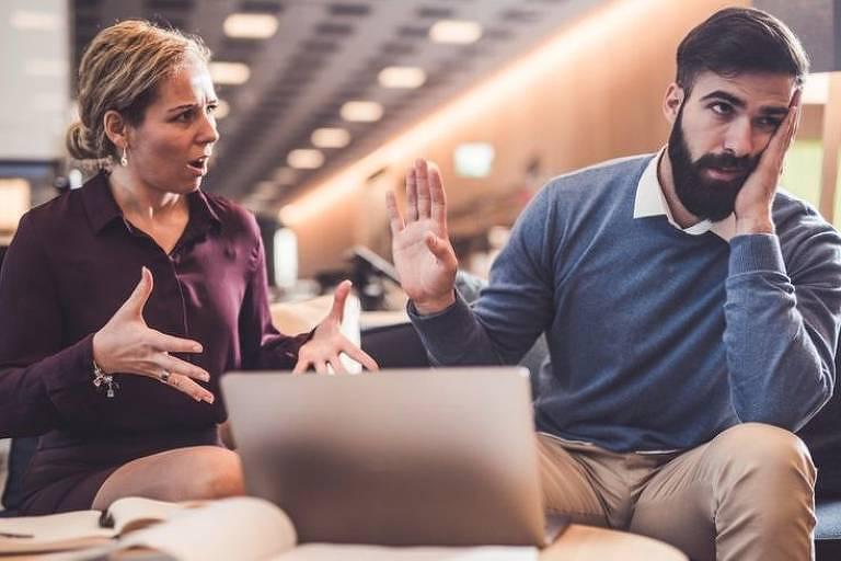 7% das pessoas dizem que não se dão bem com o chefe, de acordo com um estudo