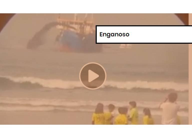 Vídeo de suposto despejo de petróleo no Brasil é na verdade em Portugal