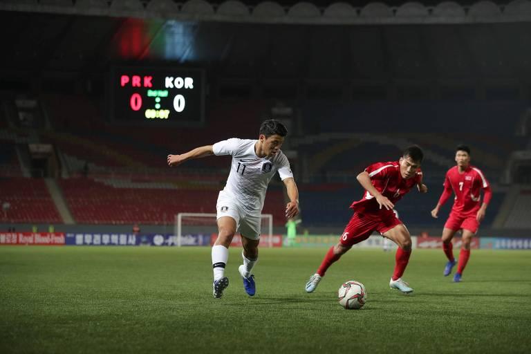 Partida histórica entre Coreias do Sul e do Norte, pelas eliminatórias para a Copa de 2022, acabou sem gols