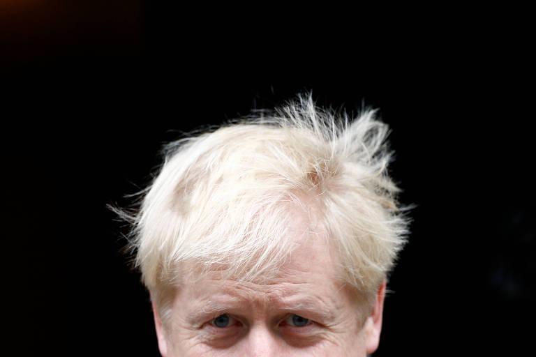O premiê britânico, Boris Johnson, em Londres