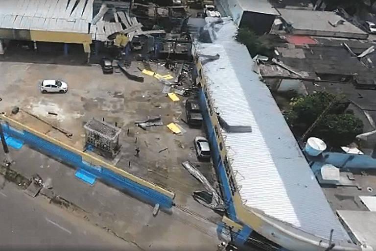Imagem mostra explosão em empresa de fabricação de gás na zona oeste de Boa Vista