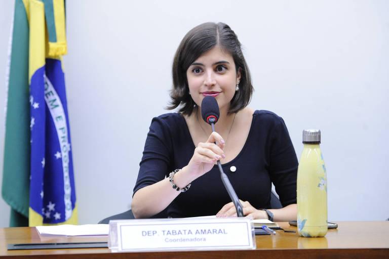 Deputada fala durante audiência pública