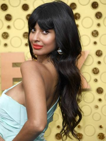 LOS ANGELES, CALIFORNIA - SEPTEMBER 22: Jameela Jamil attends the 71st Emmy Awards at Microsoft Theater on September 22, 2019 in Los Angeles, California.   Frazer Harrison/Getty Images/AFP == FOR NEWSPAPERS, INTERNET, TELCOS & TELEVISION USE ONLY ==