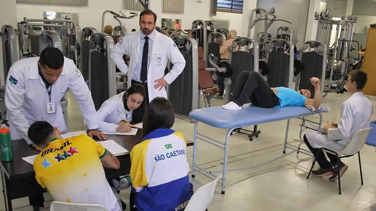 Atletas de São Caetano passam por procedimentos no Cete, da Unifesp