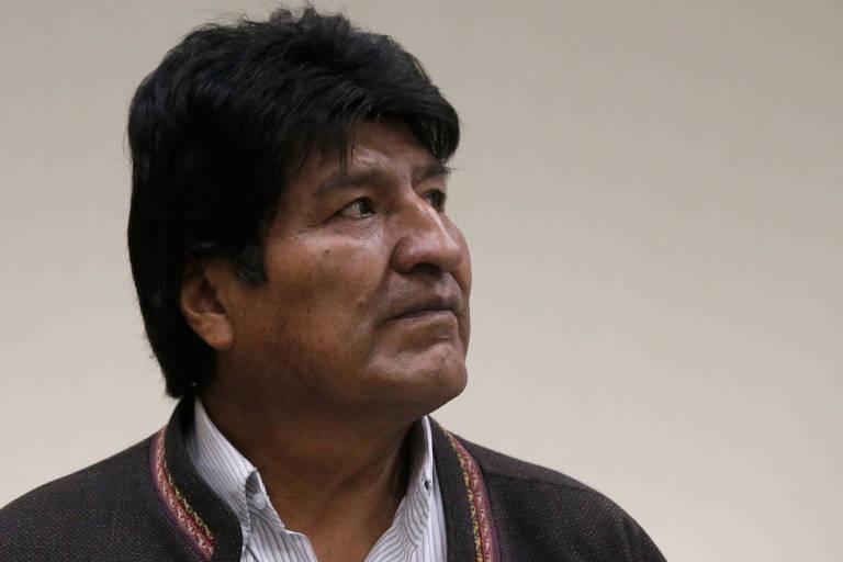 O presidente da Bolívia, Evo Morales, durante visita ao Instituto de Medicina Nuclear em El Alto, próximo a La Paz