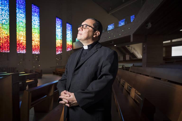 O padre Wagner Ferreira, vice presidente da Canção Nova, um dos braços da Renovação Carismática Católica no Brasil
