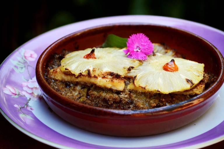 Prato do restaurante Purpuris, que fica na região de Visconde de Mauá