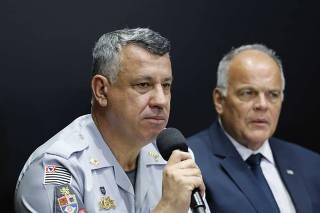 SAO PAULO, SP, 14.10.2019 ? GOVERNADOR JOAO DORIA ENTREGA VIATURAS E ARMAS PARA POLICIA.