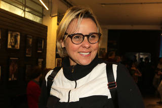 Giulia Gam na estreia da peça