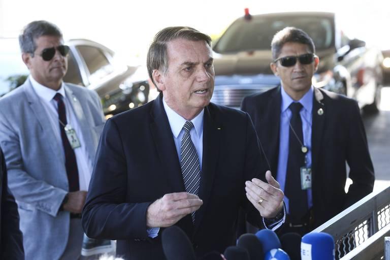 O presidente Jair Bolsonaro, que está em litígio com a direção de seu partido, o PSL