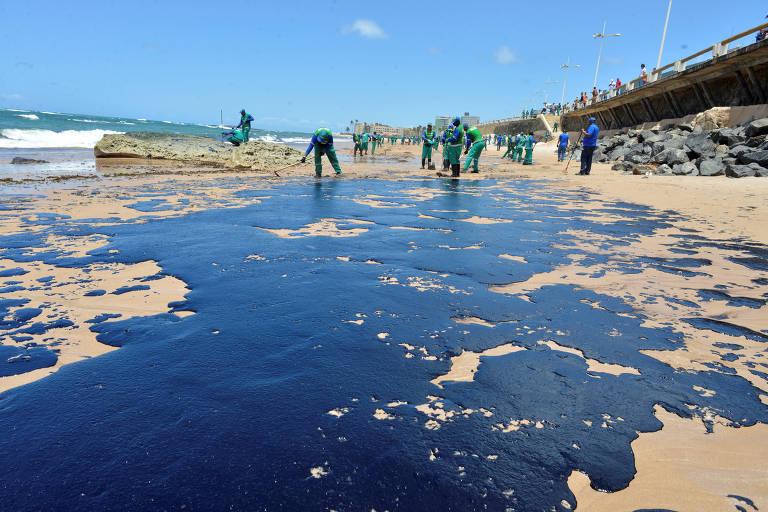 Manchas de óleo em Salvador