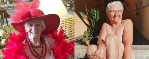 Vovó Izaura, à esquerda, e Dona Dirce, à direita, estão entre as idosas que viraram popstars no Instagram