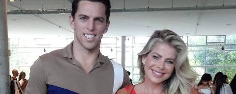 Amaury Nunes e Karina Bacchi no SPFW