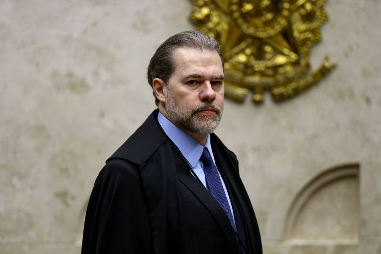 O presidente do STF, ministro Dias Toffoli, durante a sessão desta quinta-feira (17)