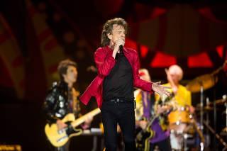 O vocalista Mick Jagger, da banda Rolling Stones