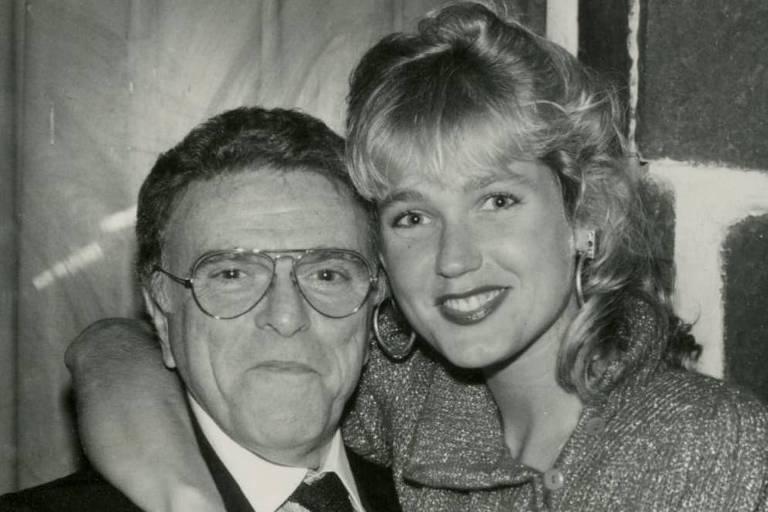 Xuxa e o diretor Mauricio Sherman