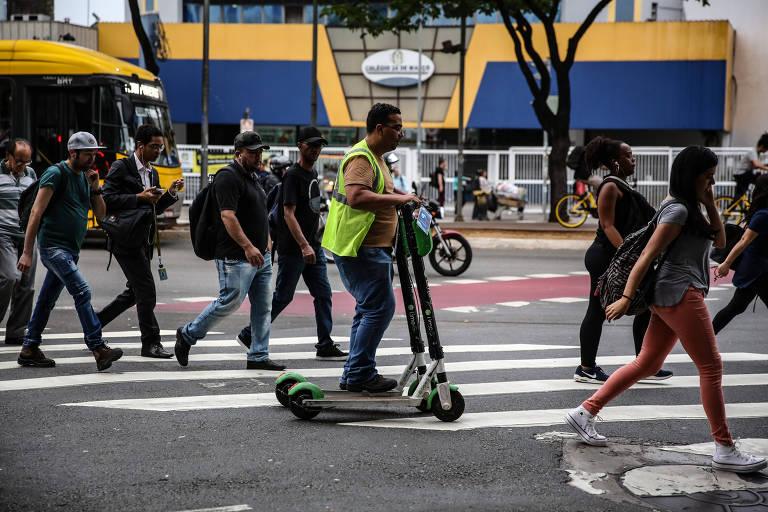 Uso de patinete em São Paulo terá novas regras