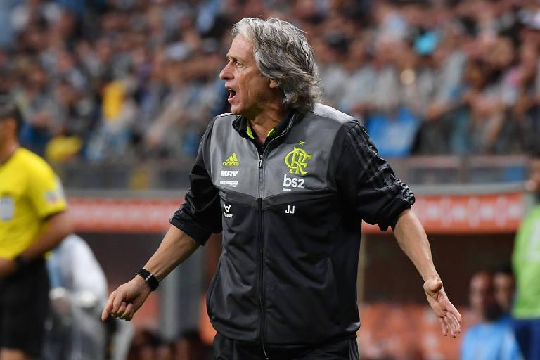 O Flamengo, do técnico Jorge Jesus, já é campeão brasileiro de 2019; só falta mesmo a chancela da matemática