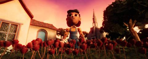 Imagem do filme interativo 'A Linha', narrado por Rodrigo Santoro