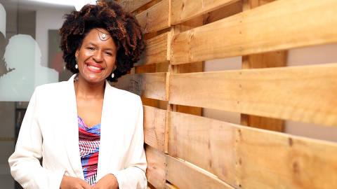 São Paulo ( SP ) 28/08/2019 - Especial sobre a participação das Mulheres Negras na Economia - Editoria Mercado - Na foto, Sheila Makeda ( Sócia fundadora da Makeda Cosméticos )  . Foto: Eliária Andrade*** FSP-MERCADO*** EXCLUSIVO FOLHA***