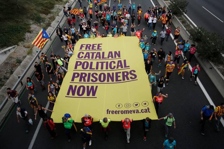 Quinto dia de manifestações na Catalunha