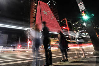 BRAZIL-SAO PAULO-LIGHTING CEREMONY-PRC-70TH FOUNDING ANNIVERSARY