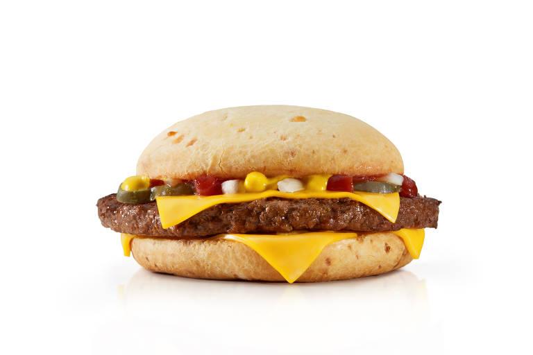 Cheesebúrguer no pão de queijo é uma das opções exclusivas do Méqui 1000