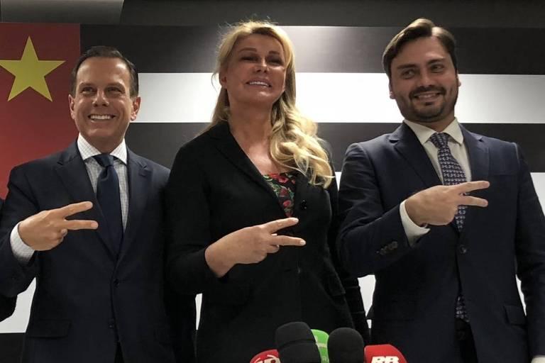novos integrantes do Governo Doria: Lia Porto como Procuradora Geral do Estado, Bia Doria como Presidente do Conselho do Fundo Social (trabalho voluntário) e Filipe Sabará como Presidente Executivo deste mesmo Fundo