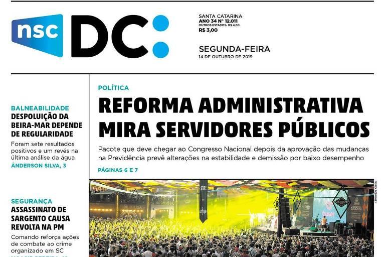 Diario Catarinense, do grupo NSC, deixa de ter periodicidade diária e passa a ser semanal